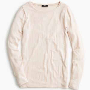 J. Crew Supersoft Subtle Pink Long Sleeve Shirt